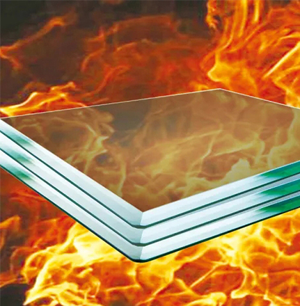 LUCK Borosilicate Glass Monolithic Fireproof Glass Fire-Resistant Glass