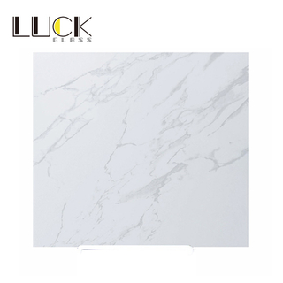 Toughened marble wall decorative glass