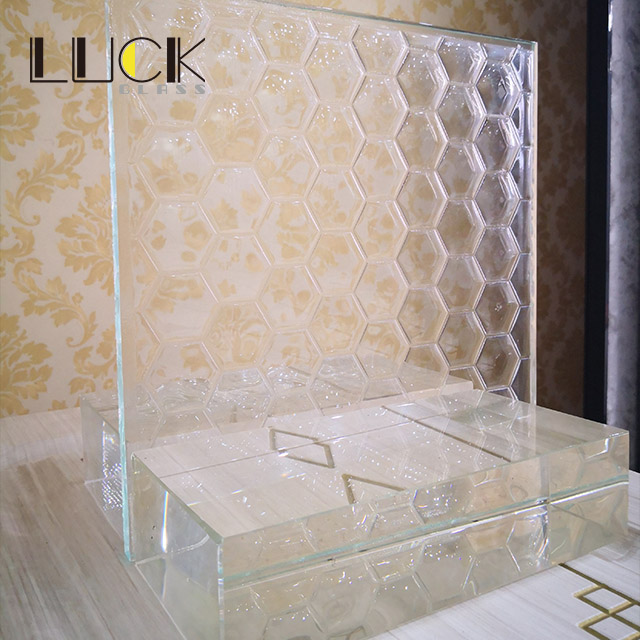 High Quality Clear Patterned Glass/ Fused Glass/ Texture glass