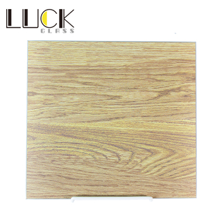 Wood print series of enamelled tempered glass